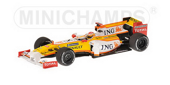 1:43 RENAULT R 29 F1 2009 no7 F.ALONSO