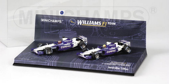 1:43 WILLIAMS F1 BMW FW24 SET 2