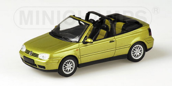 1:43 VW GOLF IV CABRIO 1999 GOLD METALLIC