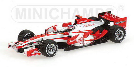 1:43 SUPER AGURI HONDA SA 07 1ST POINT SPAIN GP 2007 T.SATO