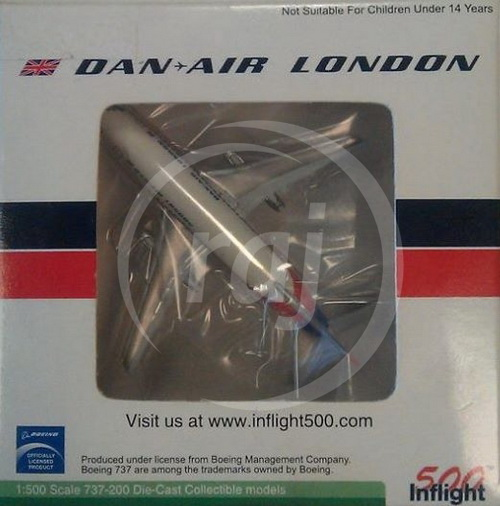1:500 BOEING 737-2 DAN AIR LONDON