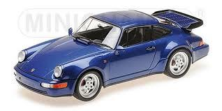 1:18 PORSCHE 911 TURBO (964) - 1990 - BLUE METALLIC