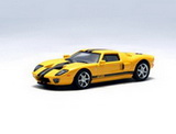 1:64 FORD GT 2004 YELLOW/BLACK STRIPE