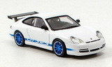 1:64 PORSCHE 911 GT3 RS 2004 WHITE/BLUE STRIPES