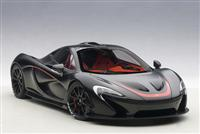 1:18 MCLAREN P1 matt black/red accents 2013