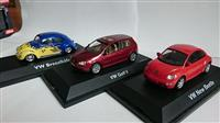 3ks VOLKSWAGEN SET 1:43 VW BEETLE, GOLF, BREZELKAFER