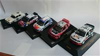 5ks  RALLY SET 1:43 CITROEN WORLD CHAMPION, SKODA, PEUGEOT, MITSUBISHI, PEUGEOT