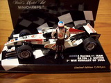 1:43 HONDA RA 106 2006 J.BUTTON 1ST WIN HUNGARY GP