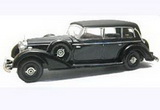 1:43 MERCEDES 770 CLOSED CABRIOLET 1938 BLUE