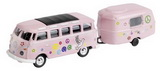 1:87 VW T1 SAMBA BUS + CARAVAN HIPPIES